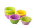 Cupcake liners isolated on white background Stock Photography