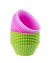 Cupcake liners isolated on white background Royalty Free Stock Photos