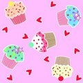 Cupcake pattern seamless Royalty Free Stock Images