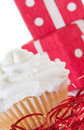 Cupcake by presents Royalty Free Stock Photo