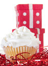 Cupcake by presents Stock Photo