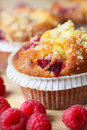 Cupcake with raspberry Royalty Free Stock Photo