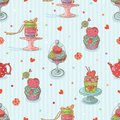 Cupcake seamless pattern Royalty Free Stock Image