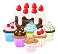 Cupcake set Cake collection sweet candy