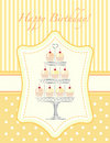 Cupcake stencil invitation Royalty Free Stock Images