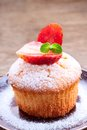 Cupcake with strawberries Royalty Free Stock Photo