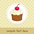Cupcake vintage background with invitation template vector illustration Royalty Free Stock Images