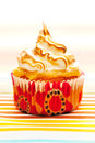 Cupcake with whipped cream Royalty Free Stock Image