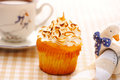 Cupcake with whipped cream Royalty Free Stock Photography