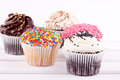 Cupcakes assorment Royalty Free Stock Photography