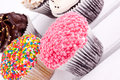 Cupcakes assorment Royalty Free Stock Images