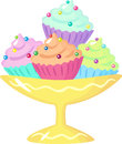 Cupcakes in the bowl Royalty Free Stock Image