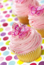 Cupcakes with Butterflies Stock Images