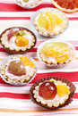 Cupcakes filled with fresh fruits Royalty Free Stock Photo