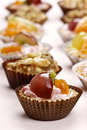 Cupcakes filled with fresh fruits. Royalty Free Stock Photo