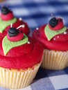 Cupcakes with frosting Stock Image