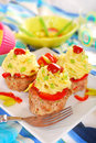 Cupcakes made from minced meat and potato puree for dinner Royalty Free Stock Photography