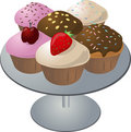 Cupcakes on plate Stock Image