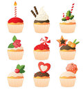 Cupcakes set Royalty Free Stock Photography