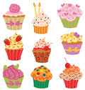 Cupcakes Set Stock Image