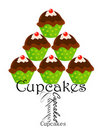 Cupcakes stack Royalty Free Stock Photography