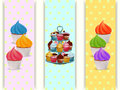 Cupcakes stand and cupcakes banners