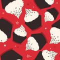 Cupcakes, stars, colorful seamless pattern