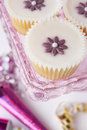 Cupcakes on a tray Royalty Free Stock Photo