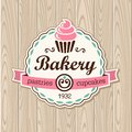 Cupcakes vector hand drawn illustration of cupcake Royalty Free Stock Photography