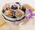Cupcakes on a wooden table selective focus Stock Photo