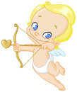 Cupid with arrow Royalty Free Stock Photo