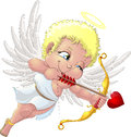 Cupid the beautiful who shoots a love arrow Stock Photography