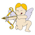 Cupid cartoon image of an isolated Stock Photos
