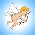Cupid color on a blue background