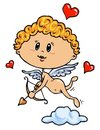 Cupid Color Illustration Royalty Free Stock Photos