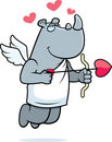 Cupid do rinoceronte Imagem de Stock Royalty Free
