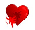 Cupid with heart Royalty Free Stock Photo