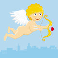 Cupid illustration of a valentines day Stock Images