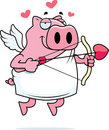 Cupid Pig Stock Photography