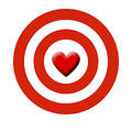 Cupid's target Stock Photography