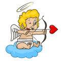 Cupid shoots of bow illustration format eps Stock Image