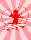 Cupid on Starburst Background! Vector eps 8 Royalty Free Stock Photo
