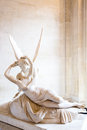Cupid statue paris june on june in paris antonio canova s psyche revived by s kiss first commissioned in exemplifies Royalty Free Stock Photos