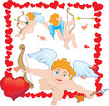 Cupid três Fotos de Stock Royalty Free