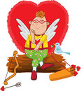 Cupid waits for love Stock Image