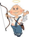 Cupidon boy cartoon the cheerful lovely cupid with darts Royalty Free Stock Photography