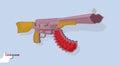 πυροβό ο όπ ο αγάπης όπ α cupids επίσης corel σύρετε το  ιάνυσμα απεικόνισης Στοκ εικόνα με δικαίωμα ελεύθερης χρήσης