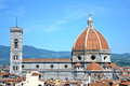 The cupola of brunelleschi florence cathedral Royalty Free Stock Photography