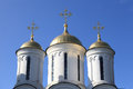 Cupola of cathedral of the transfiguration in yaroslavl russia Stock Photos