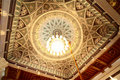 Cupola with chandelier in grand mosque Royalty Free Stock Image